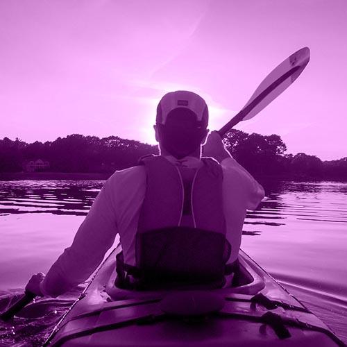 Kayak en Baiona